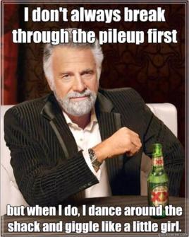Funny pileup