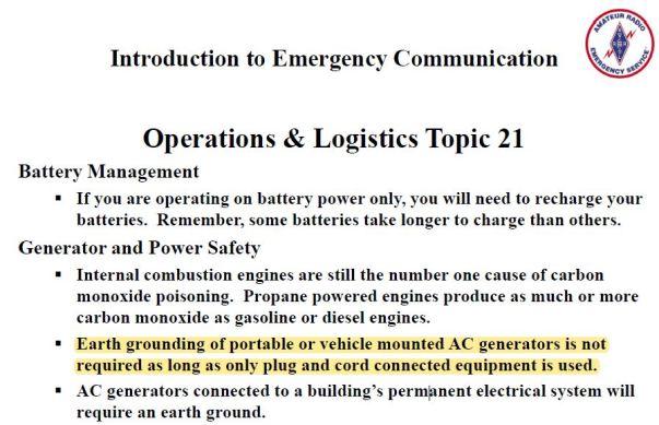 EC-001 GENERATOR GROUNDING